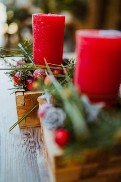Immagine di Centrotavola candelotto e lix Natale