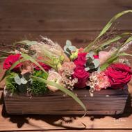 Immagine di Cassetta legno fiori misti