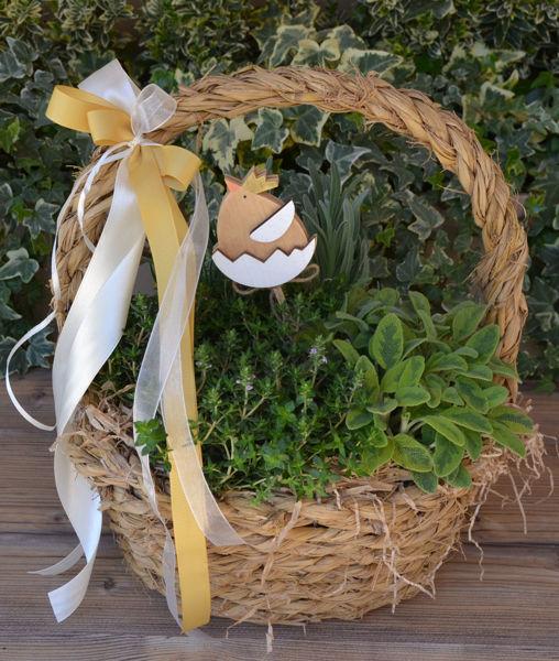 Immagine di Cesto con manico piante aromatiche