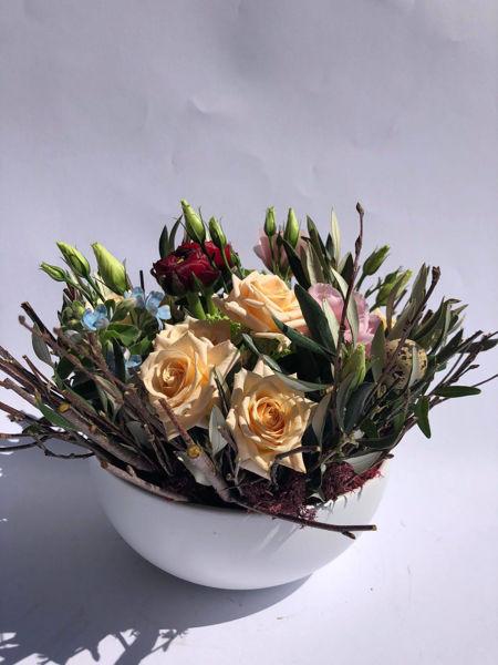 Immagine di Composizione in vaso ceramica