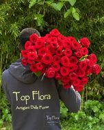 Immagine di 50 Rose Rosse RED NAOMI